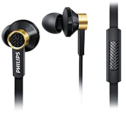 Philips In-ear High Precision Sound Headphone Headset Earphone + Mic Tx2 Black