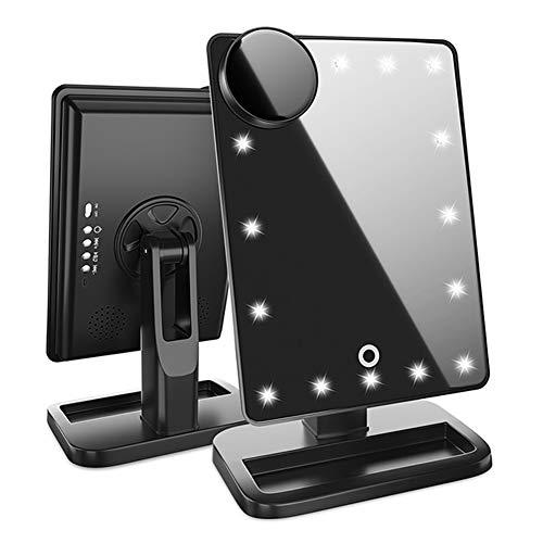 Makeup Mirror Bluetooth - 20 LED Lights Cosmetic Mirror,180° Rotation Vanity Mirror Lights,A