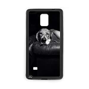 Basset-Hound Samsung Galaxy Note 4 Cell Phone Case Black O1672231