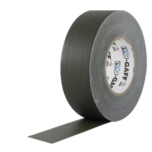 Amazon Lightning Deal 85% claimed: ProTapes 2 Width Pro Gaff Premium Matte Cloth Gaffer's Tape with Rubber Adhesive 11 Mils Thick 55 Yds Length Olive Drab (Pack of 1)