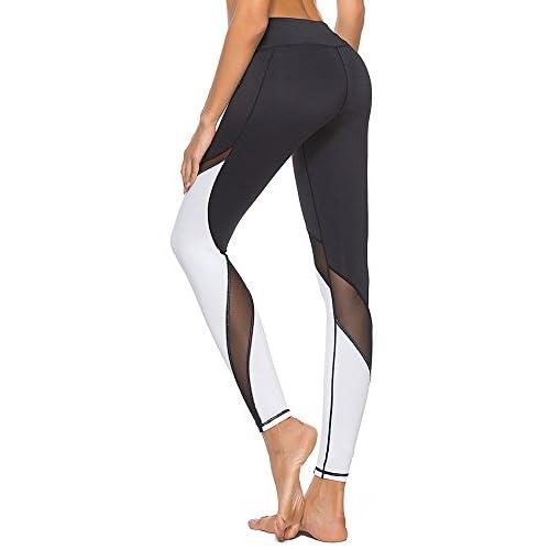 dh Garment Legging Sport Femme Pantalon Yoga avec Poche Taille Haute  Amincissant Coton - Noir a8485ed22d7