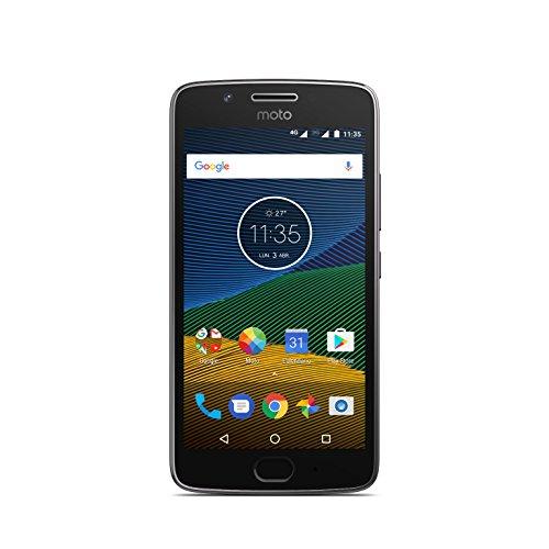 Moto G 5ª Generación - Smartphone libre Android 7 (pantalla de 5'' Full HD, 4G, cámara de 13 MP, 3 GB de RAM, 16 GB, Qualcomm Snapdragon 1.4 GHz), color gris: Motorola