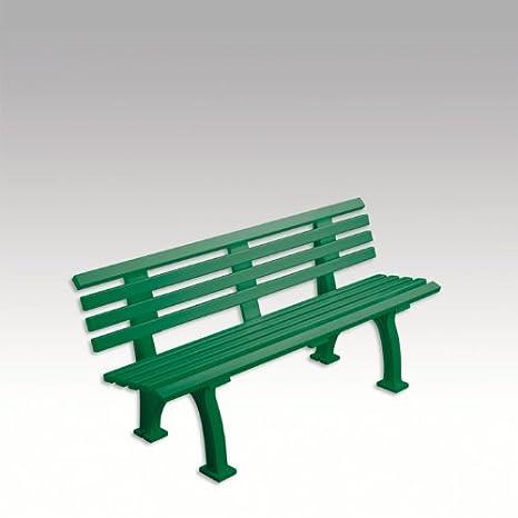 Panchina In Plastica Verde.Panca Da Giardino Panchina Bank In Plastica Verde 150 Cm