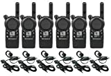 6 Pack of Motorola CLS1410 Walkie Talkie Radios with Headsets