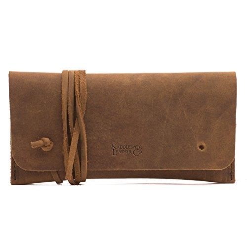 Saddleback Leather Co. Pen/Pencil Case Multipurpose Bag Includes 100 Year Warranty - Bull Mens Pouch
