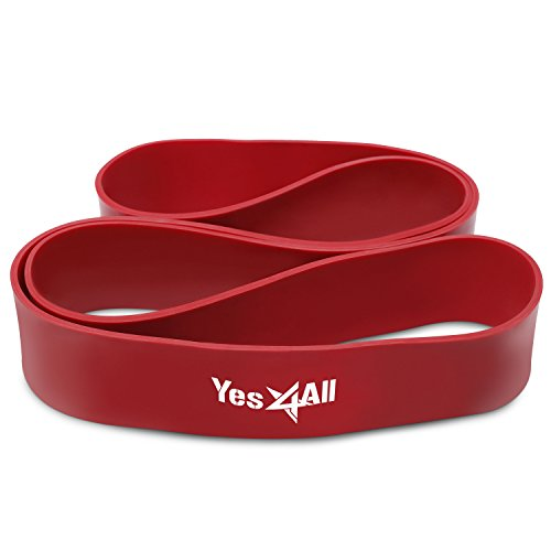 Yes4all Pull Up Assistance Band – Assist for Strength Training, Pull-Up, Chin Up, Powerlifting - Resistance Stretch Bands - Red - ²EF4AZ