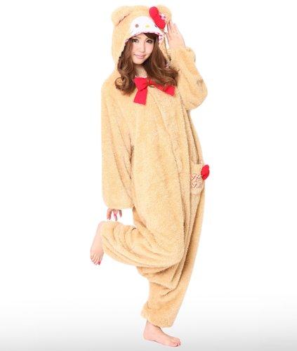 Genuine Kigurumi Sanrio Hello Kitty Beige Teddy Bear Cosplay (Hello Kitty Cosplay)