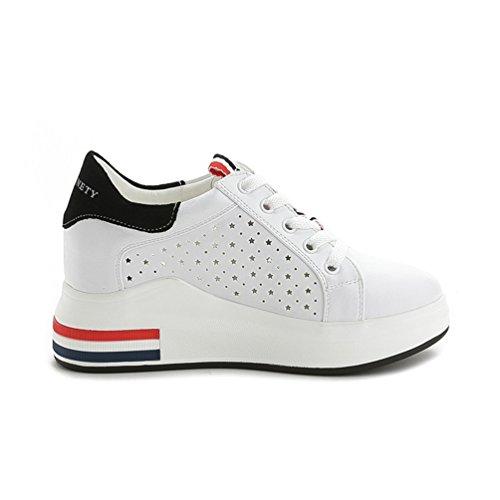 ohne Markenname Sportliche Damen Plateau Sneaker-Wedges Low-Top Sneakers Keilabsatz 67eqm4omz0