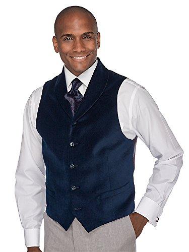 Paul Fredrick Men's 100% Cotton Five-button Shawl Collar Velvet Vest