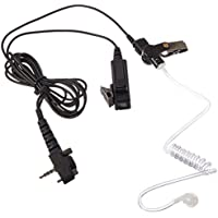 MaximalPower FBI Surveillance Headset Earpiece PTT Mic for VERTEX Radio w/ KEVLAR Enforcement