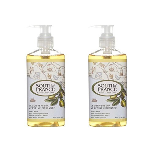 (South Of France Liquid Soap, Lemon Verbena, 8 Fluid Ounce (Pack of 2))