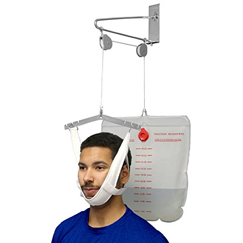 Neck Traction Device (OTC Over Door Cervical Traction Kit, Neck Disk Relief, Complete Set)