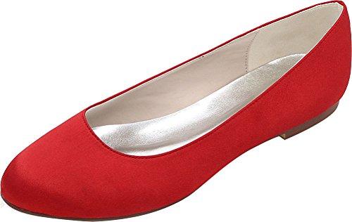 5 36 Find Nice Sandales Femme Red Rouge Compensées q4TAwF