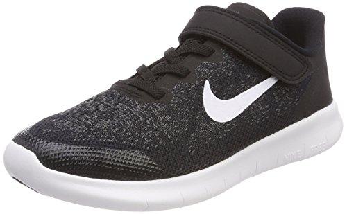Nike Jungen Free RN 2017 (PS) Laufschuhe Schwarz (Black/white/dark Grey/anthraci 002)