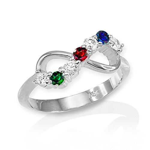 free rings birthstones shipping in platinum all ring mothers gold with stone