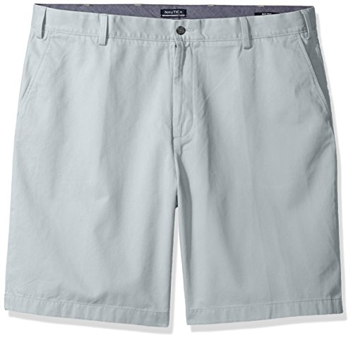 Nautica Men's Big and Tall Cotton Twill Flat Front Chino Deck Short-C92110, True Quarry 42W ()