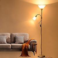 & Lámparas de pie Lámpara de pie LED Sala de estar ...