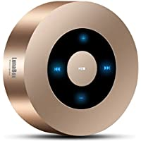 LunaBox SoundBot Bluetooth Speaker with 8-10 Hour Playtime, 33-Foot Bluetooth Range & Built-in Mic, Dual-Driver Portable Wireless Speaker with Low Harmonic Distortion and Superior Sound(Gold)