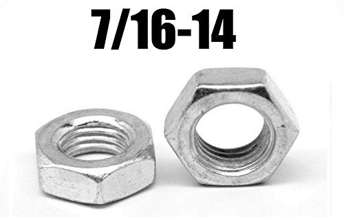7//16 Width Across Flats 7//32 Thick Plain Finish Left Hand Thread 1//4-20 Thread Size ASME B18.2.2 18-8 Stainless Steel Hex Nut Pack of 25