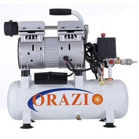 241183 Silencioso Tipo Aire Compresor 65DB 600W 9L Para Móvil Garaje, Dental Clínica: Amazon.es: Hogar