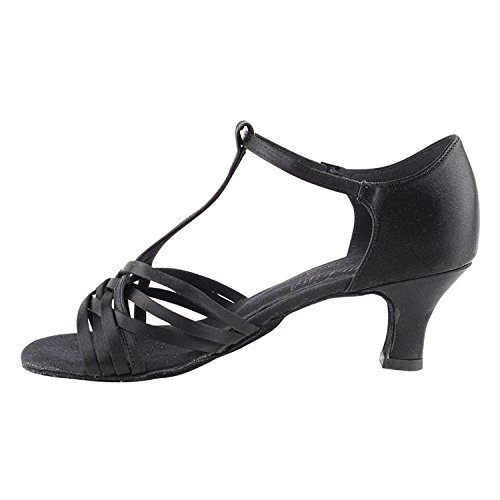 Gold Pigeon Shoes 50 Shades Of Mid Heel Dance Dress Shoes Collection (Vegan Available): Women Ballroom, Latin, Tango, Salsa, Swing, Practice, Theather Art by Party Party S92304 Black Satin