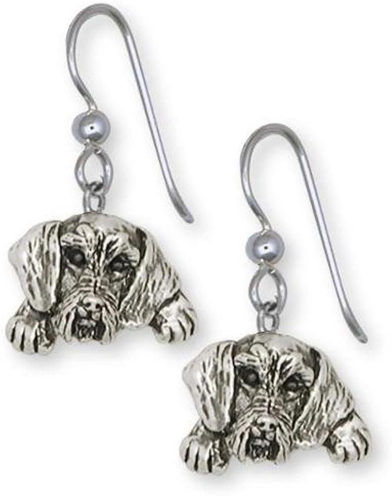 Dachshund Jewelry Long Hair Dachshund Earrings Jewelry Sterling Silver Handmade Dog Earrings LD3-LB