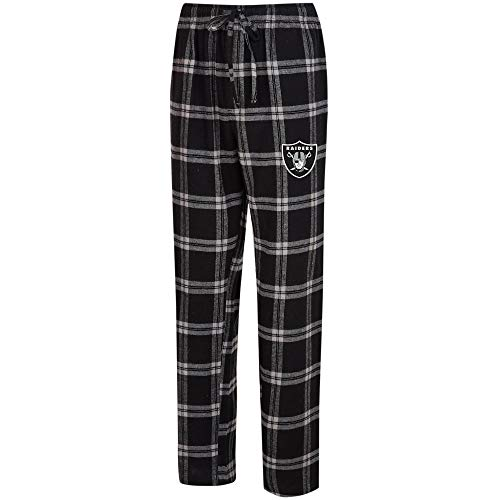 - Concepts Sport Oakland Raiders Homestretch Flannel Pants (Large)