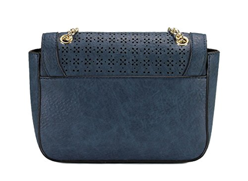 Scarleton Laser Cut Bag Blue Crossbody Flap Pattern H1961 r4Uwqxr7