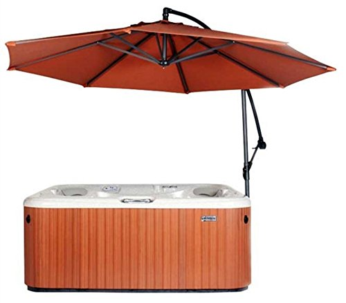 Spa Side Umbrella Hot Tub Cover Hot Springs Pergolas Canopies Gazebos Sun Shade Cantilever (Rust) ()
