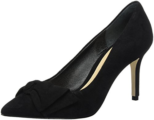 Buffalo Damen ZS 7668-16 Suede Pumps Schwarz (Black 01)