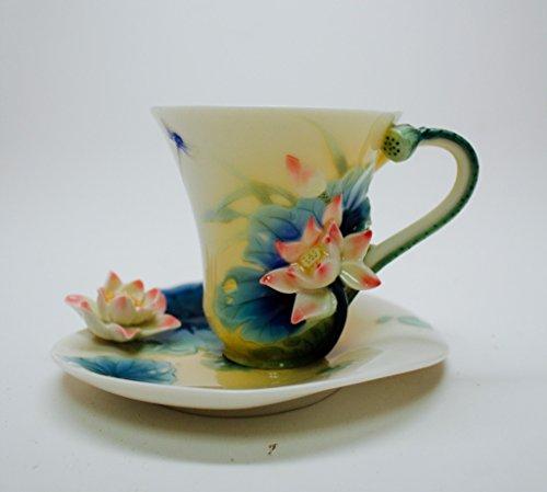 Porcelain Harmony Lotus (Franz Porcelain Lotus Harmony Cup Saucer Spoon)