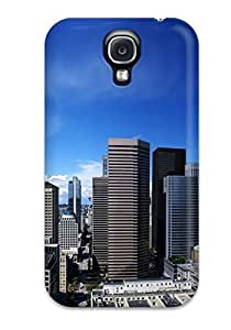 Hot Fashion XgNElRL2328LWelE Design Case Cover For Galaxy S4 Protective Case (city)