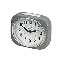 Trevi Retro Bedside/Travel Alarm Clock with LED Backlight and Silent Sweep Second Hand, Plastic-P
