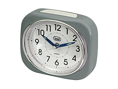 Trevi Retro Bedside/Travel Alarm Clock with LED Backlight and Silent Sweep...