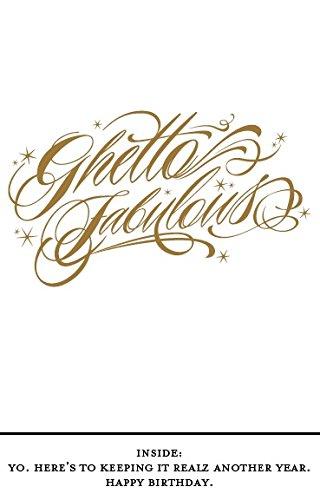 Quiplip バースデー「Getto Fabulous」(6パック)グリーティングカード B01N3B7RMX