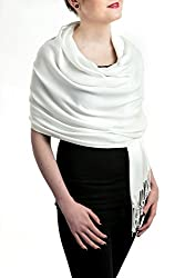 "Opulent Luxury Fashion Pashmina Wrap Scarf For Women Reversible Soft Luxurious Premium 100% Cashmere Shawl Embellished with Healing Swarovski Crystal 80"" x 30"" Long"
