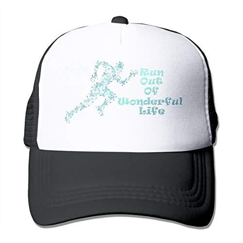 Wonderful Life Classic Trucker Hat Adjustable Baseball Cap for Men and Women Black