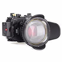 EACHSHOT 40m/130ft Underwater Diving Camera Housing for Canon G5X + 67mm Fisheye Lens + 67mm Red Filter