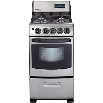 "DR299BLSGLP Designer Series 20"" Freestanding Gas Range with 2.62 cu. ft. Manual Clean Oven 4 Sealed Burners Electronic Ignition and Broiler Door in Stainless"