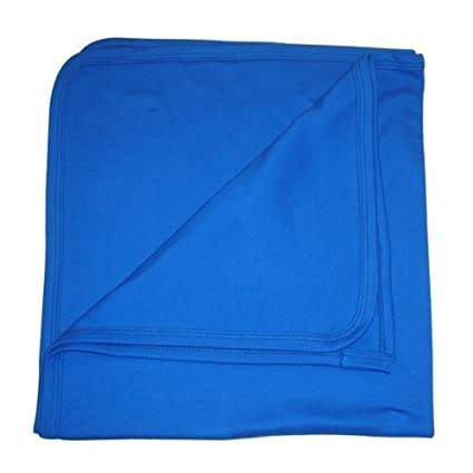 Sky blue British Made BabywearUK Baby Blanket Cotton
