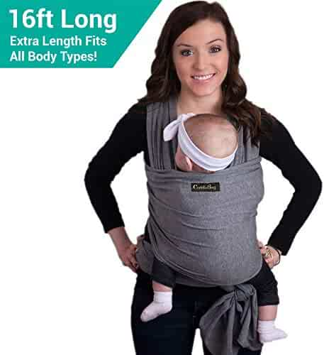 9-in-1 CuddleBug Baby Wrap Sling + Carrier - Newborns & Toddlers