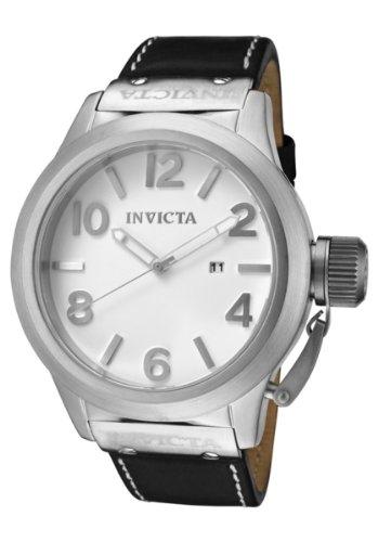 Invicta Men's 1134 Corduba White Dial Black Leather Watch