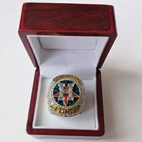 Nine Culture 2017 Houston Astro's World Series Replica Championship Ring Wooden Box(Size 8-14) (10)