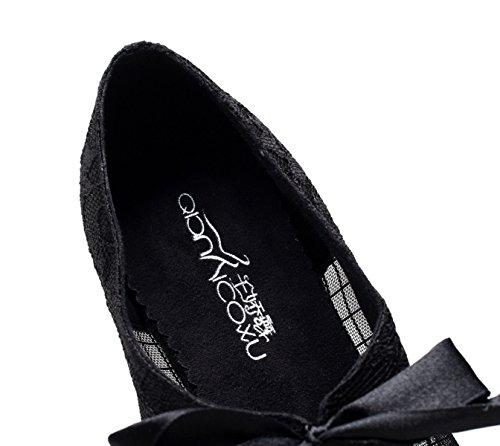 Las Black Our37 5 EU36 Té De Impreso Mujeres Moderno América Tango De Altos Tacones Malla Salsa De Baile Sandalias UK4 heeled10cm Zapatos Samba Encaje Jazz De Zapatos JSHOE 8FwpxBq4c