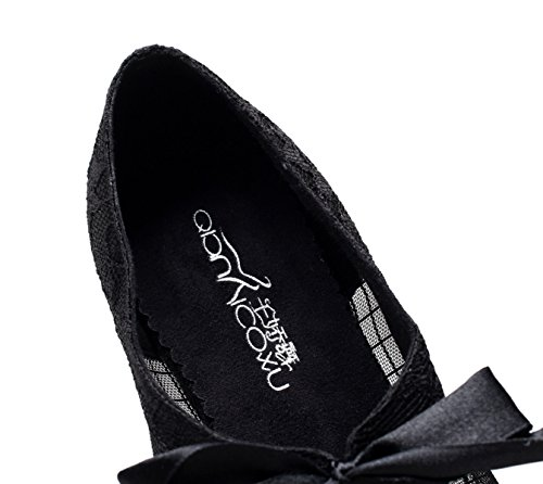 De De De Jazz Our38 Baile América Las EU37 Salsa UK5 Zapatos Altos JSHOE Impreso Tacones Zapatos Té Moderno De Samba heeled10cm De Tango Sandalias Encaje Malla Mujeres Black dwPqWx8