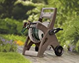 Suncast 175-Foot Capacity Hosemobile Garden Hose Reel Cart, Bronze/Taupe JTT175B