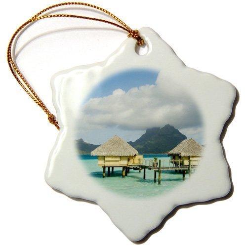 Ditooms Pearl Beach Resort, Bora-Bora, French Polynesia-Oc13 Spi0022-Sergio Pitamitz-Snowflake Ornament, 3-Inch, Porcelain ()