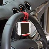 Multi-functional mobile phone Holder/Mount/Clip/Buckle Socket Hands Free on Car Steering Wheel