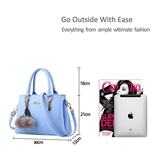 shoulder fashion casual NICOLE bag leather Blue messenger handbag amp;DORISnew PU bag qcaw6w7P