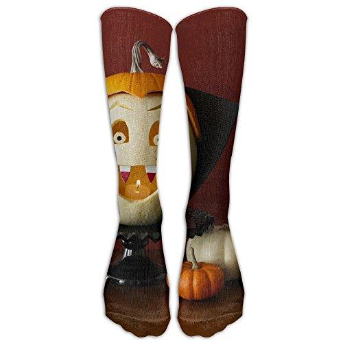 Halloween Pumpkin Cotton Knee Socks Naughty Elasticity Travelers Compression Socks Adults -